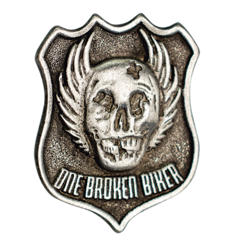 One Broken Biker Pin