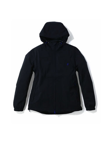 Nylon Taslan Packable Hooded Jacket- Black