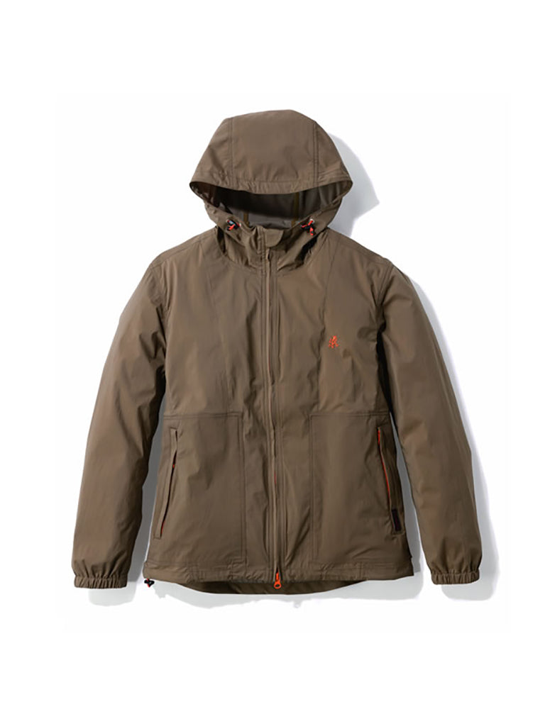 Nylon Taslan Packable Hooded Jacket- Khaki