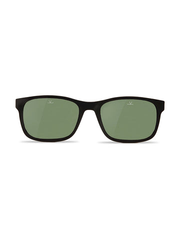 Medium Rectangle District- Matte Black Frame/ Pure Grey Lens