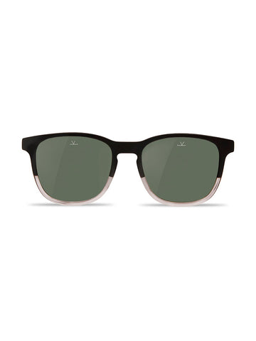 Square District- Matte Black & Transparent Frame/ Grey Polar Lens
