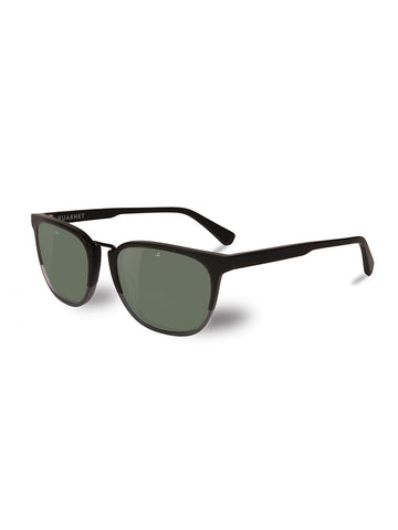 Medium Rectangular Cable Car- Matte Black & Grey Frame/ Grey Polar Lens