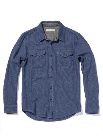 Blanket Shirt- Dusty Blue