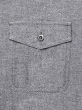 Transitional Flannel 2 Pocket- Charcoal Herringbone