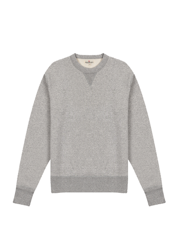 Crew Neck Fleece- Heather Grey