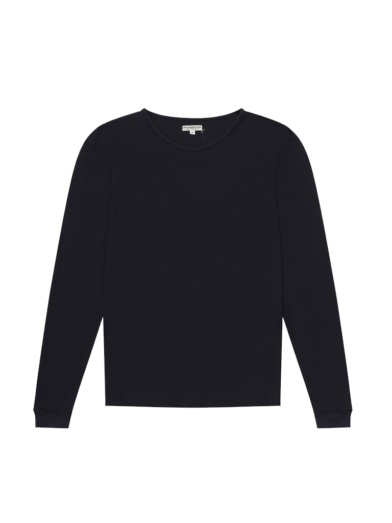 Camp Knit Long Sleeve- Dark Navy
