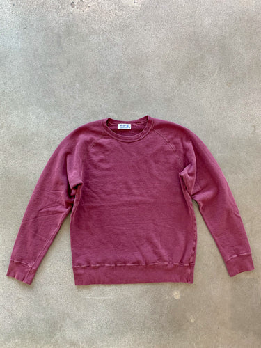 8 Oz Pigment Dyed Sweatshirt- Burgundy