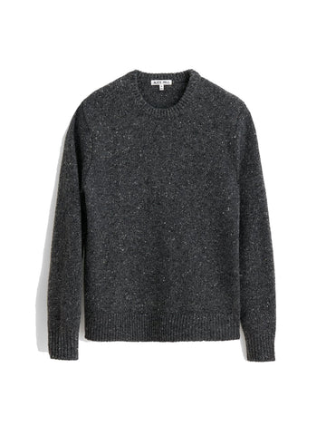 Donegal Crew Neck Sweater- Charcoal