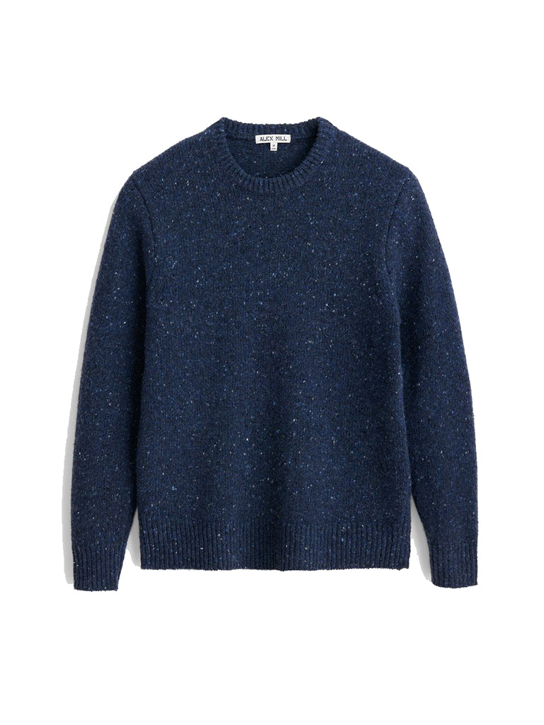 Donegal Crew Neck Sweater- Navy