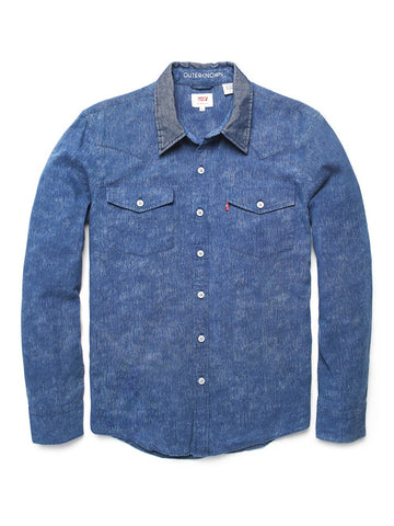 Levi's x Outerknoiwn Wellthread Western Shirt- Washed Ikat