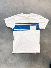 College Stripe Tee- White