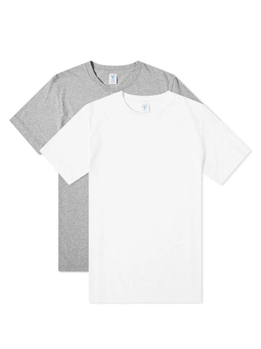 2 Pack Tee- White & Grey