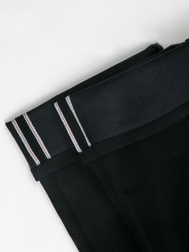 The Pen Slim 10.5oz Raw Stretch Selvedge- Black