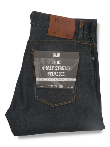 The Pen Slim 14oz Raw Stretch Selvedge