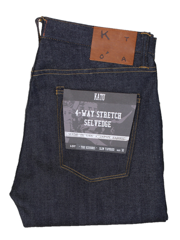 The Scissors Slim Tapered- Indigo Raw 10.5oz