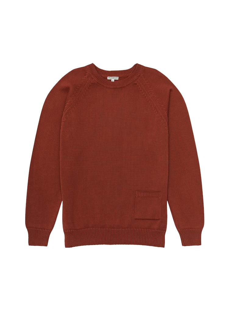 Barge Sweater- Brick