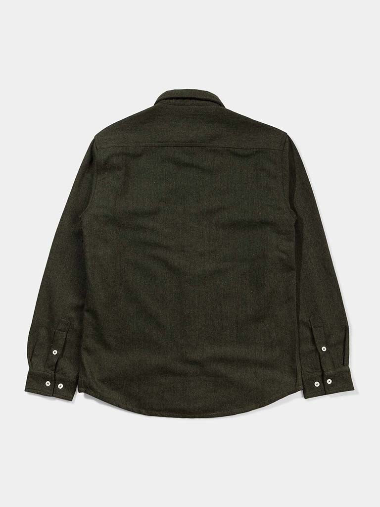 Wool Herringbone Shirt- Green