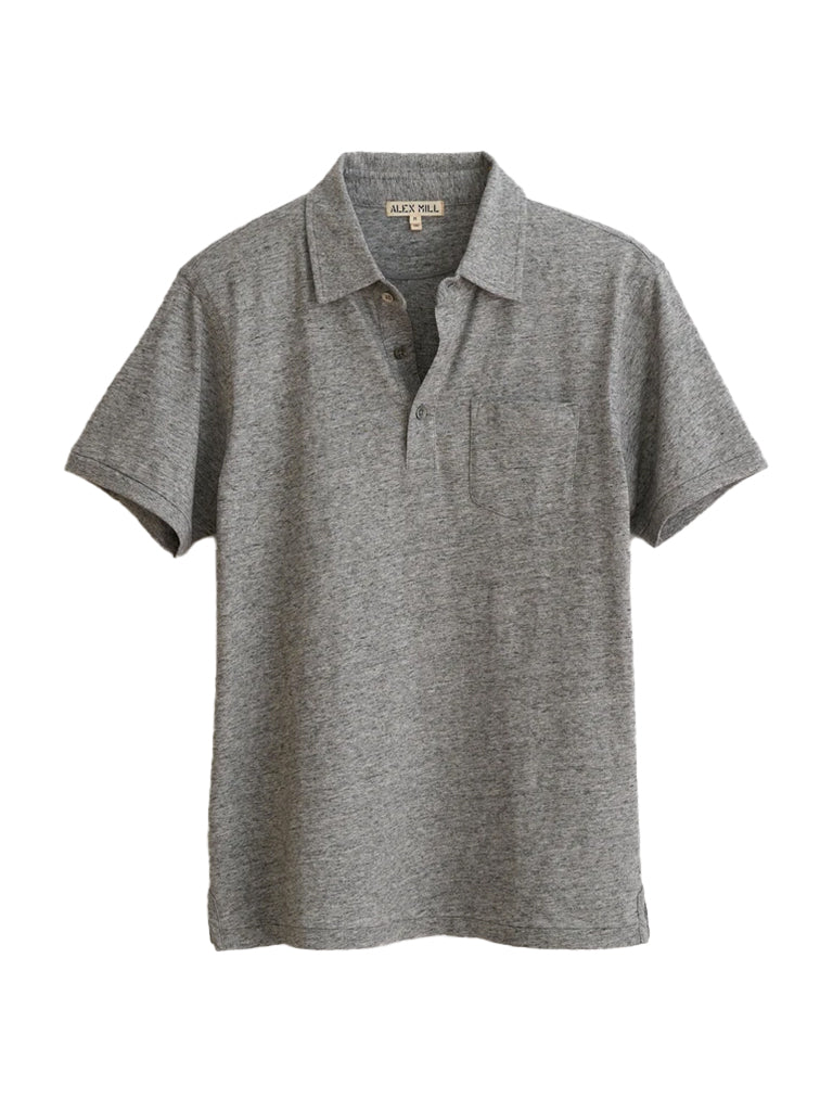 Rugby Polo- Heather Grey