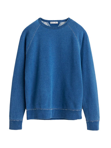 French Terry Sweatshirt in Light Indigo