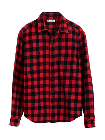 Flannel Chore Shirt- Red