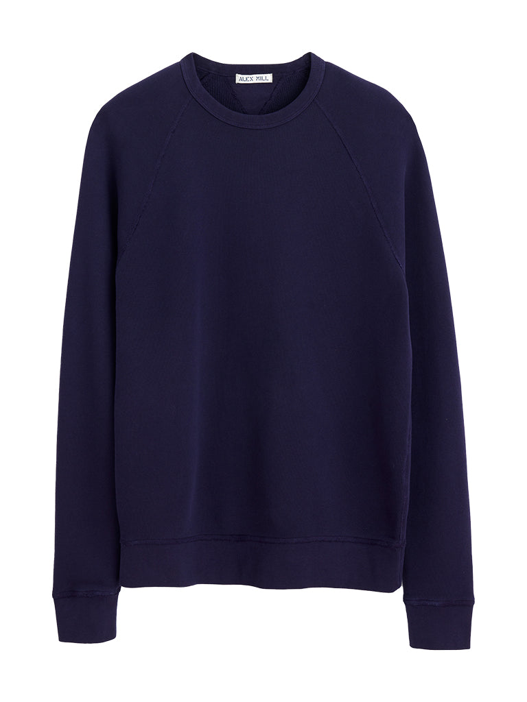 French Terry Sweater- Navy Night