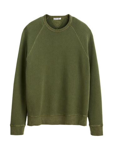 French Terry Sweater- Faded Olive