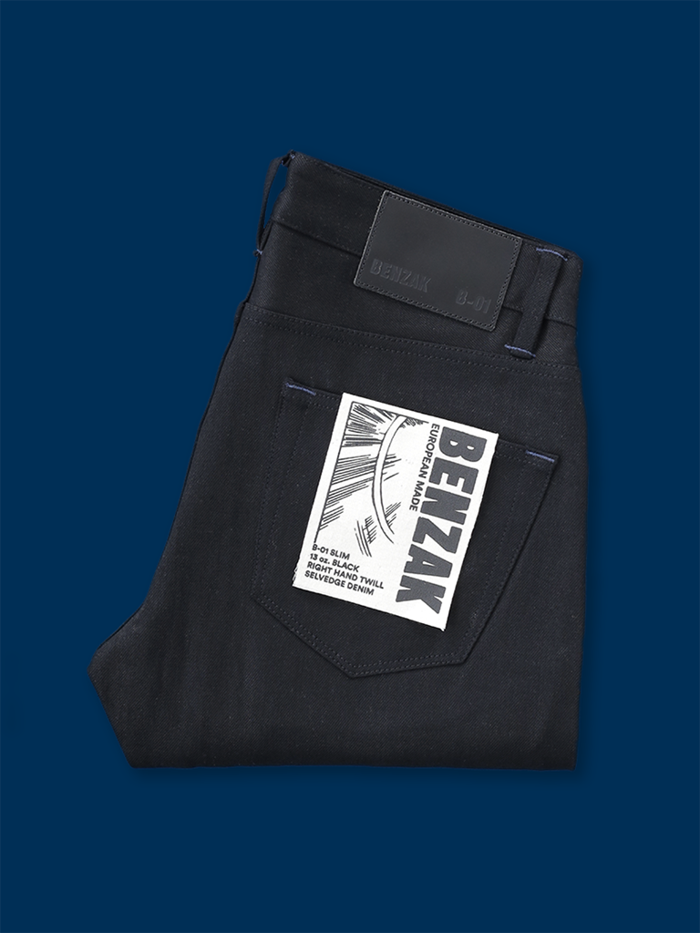 B-01 Slim 13 oz. Black Selvedge
