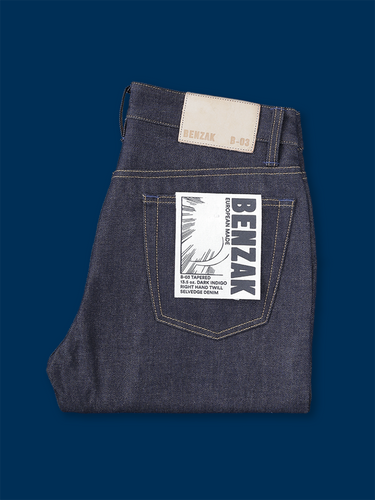 B-03 Tapered 13.5 oz. dark indigo selvedge