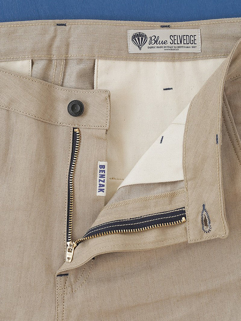 BC-01 Tapered Chino- 7.5 oz Sand Linen Selvedge