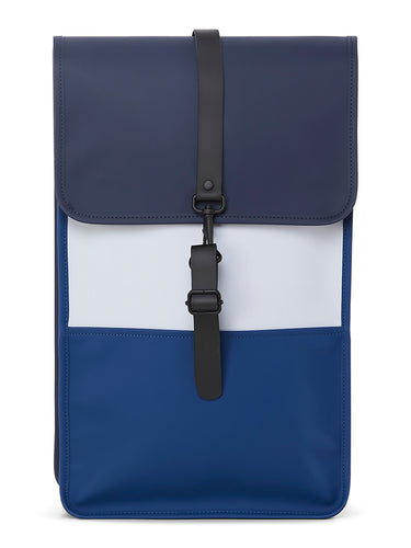 Color Block Backpack- Blue/Ice Grey