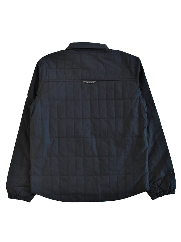 Anvik Quilted Shirt Jacket- Black