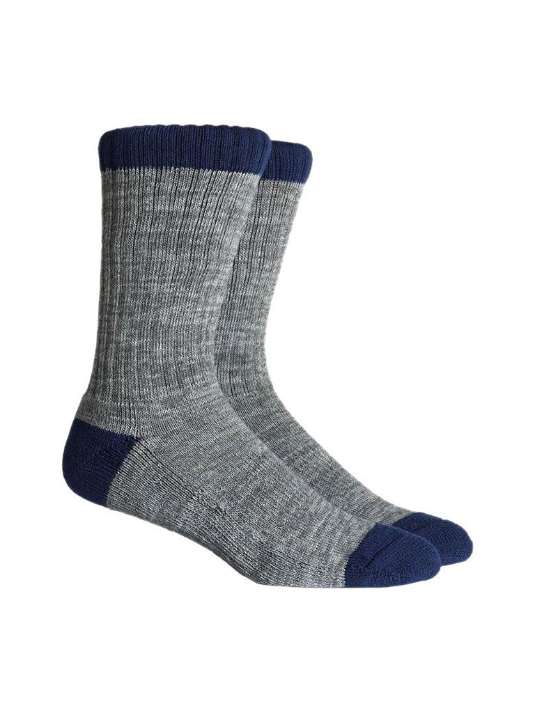 Carter Socks- Gray & Navy