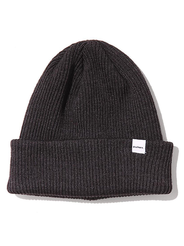 1 x 1 Ribbed Beanie- Charcoal