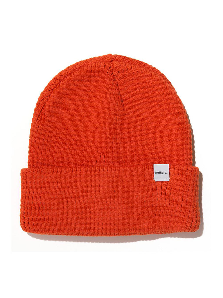 Organic Cotton Waffle Knit Beanie- Red