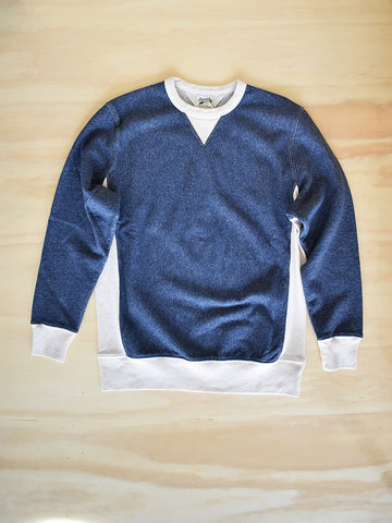 BS-05 Reverse Sweat Crewneck- Navy Melee