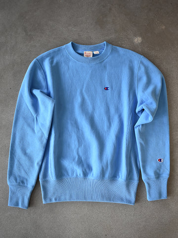 C Patch Reverse Weave Terry Crew- Swiss Blue