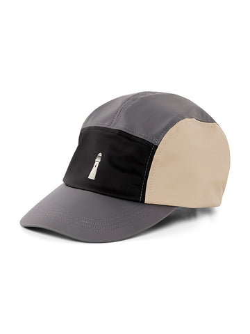 Color Block Dad Cap- Black/Beige