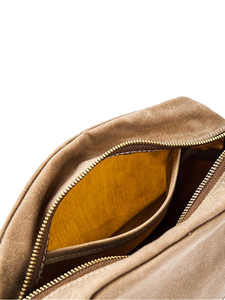 Drifter Dopp Kit- Waxed Field Tan