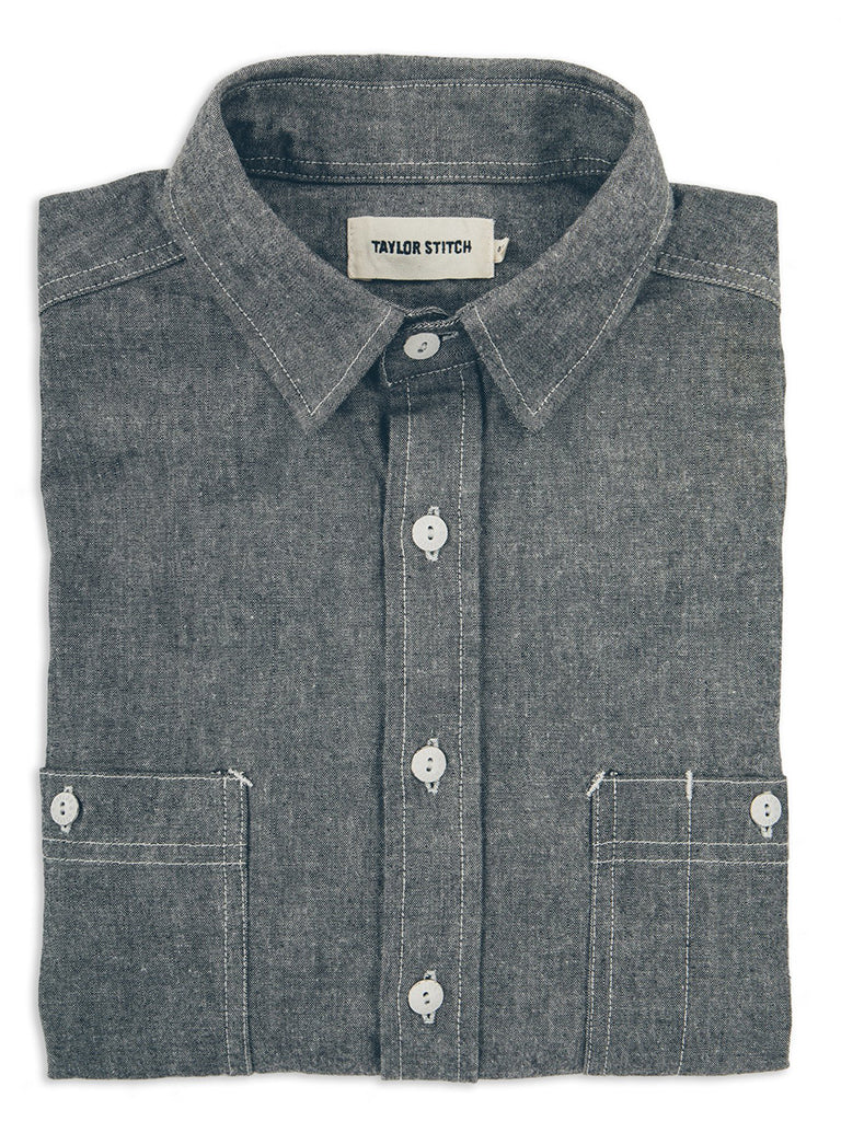 California Chambray- Charcoal