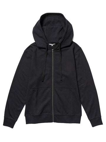 Fleece Zip Hoodie- Black