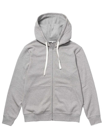 Fleece Zip Hoodie- Light Heather Grey