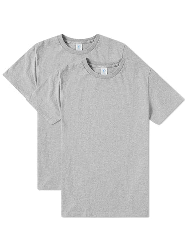2 Pack Tee- Heather Grey