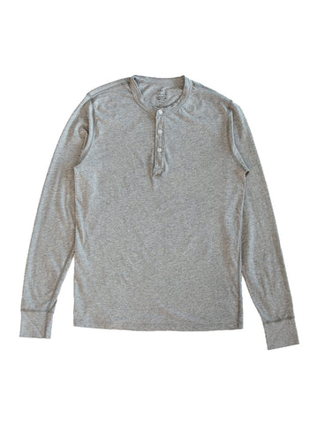 Supima Jersey Henley- Heather Grey