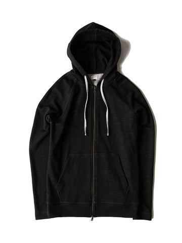 Hooded Zip (006)- Black