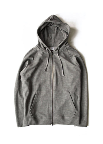Hooded Zip (006)- Feather Grey