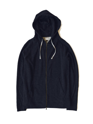 Hooded Zip (006)- Navy