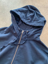 Supima Fleece Zip Hooded Sweatshirt- Navy