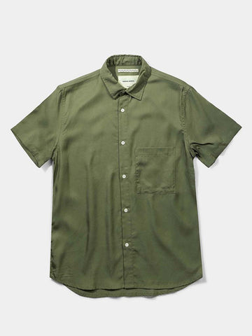 Japanese Tencel Shirt- Olive