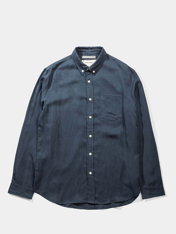 Japanese Linen Tencel Shirt- Blue