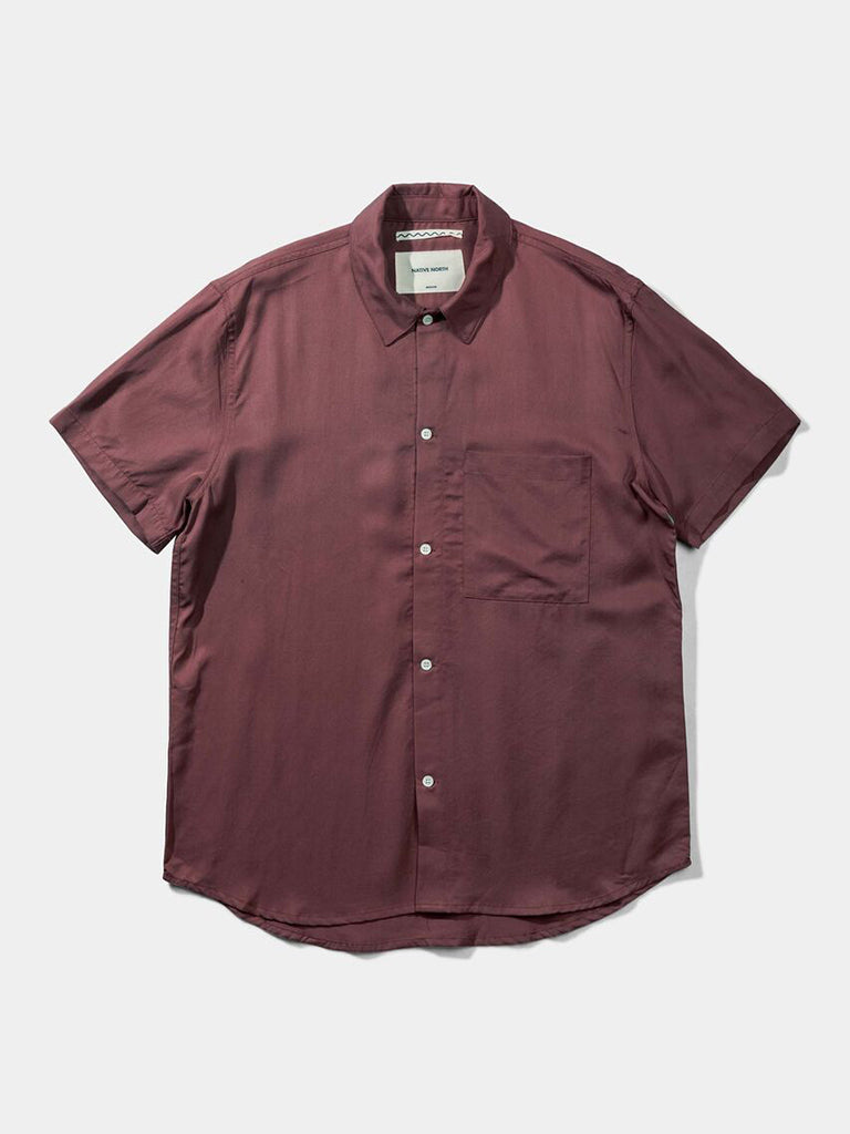 Japanese Tencel Shirt- Burnt Red